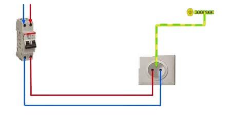 Circuito electrico de una casa toma de corriente